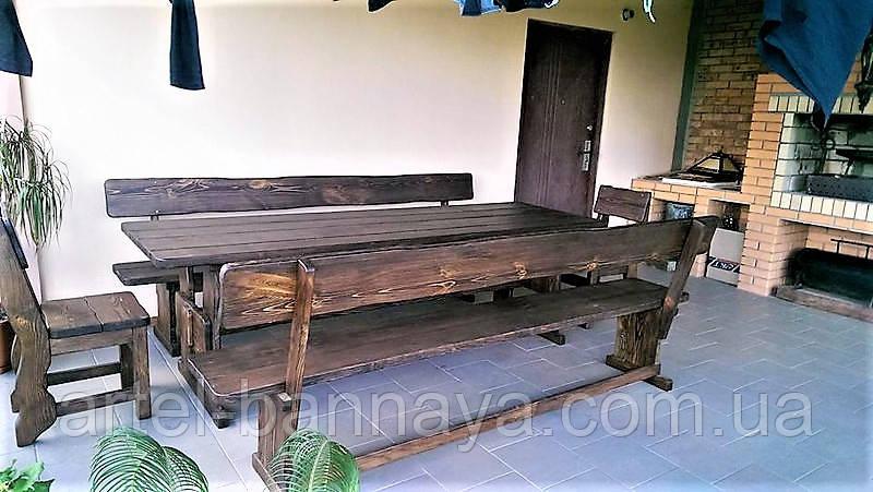 Мебель из дерева для дачи, дома, комплект деревянный 2200*900 от производителя