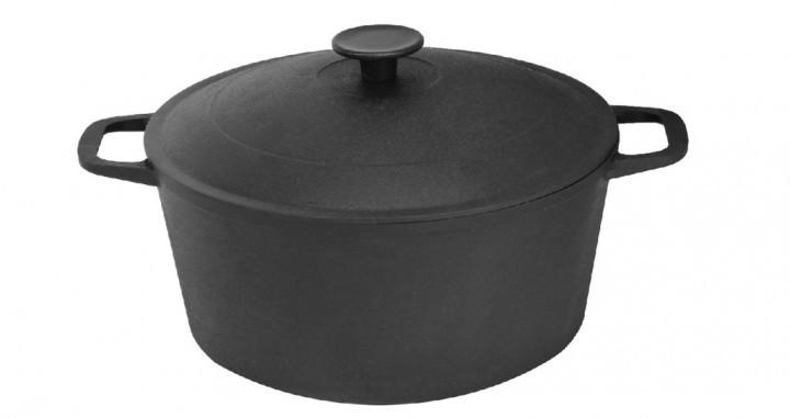 Кастрюля чугунная Биол (0805) 5 литров с крышкой