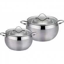 Набор посуды из нержавеющей стали Lessner 2 шт 2,2л/4л  (55857)
