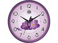 Часы настенные круглые UTA Фиалки (76-110-1083228)