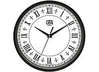 Часы настенные круглые UTA Черные римские цифры (76-110-1083231)