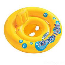 Надувной круг Intex 59574 «Мой малыш», серия «Школа плавания», с трусиками, 67 см