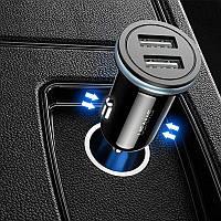 Автомобильное зарядное устройство 2USB Usams С4 (2,4A) Black (US-CC050) (АЗУ в прикуриватель )