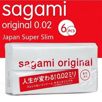 Полиуретановые презервативы Sagami Original 0.02мм, 6 шт