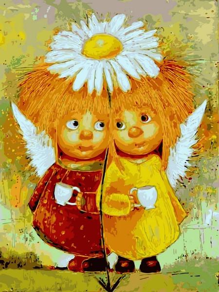 Картина за номерами Babylon Пара сонячних ангелів 30*40 см арт.VK233