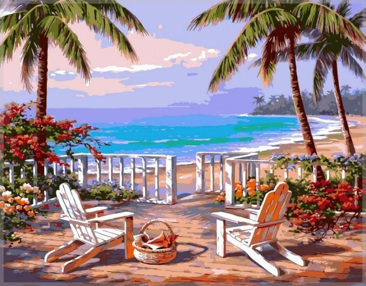 Картина по номерам Babylon Пляж Анатолии 40*50 см (в коробке) арт.VP009