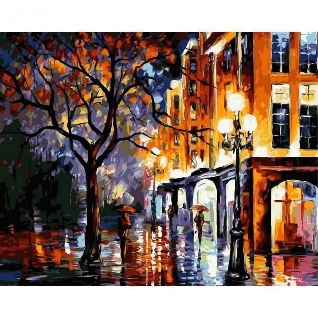Картина по номерам Babylon Дождь в Майами 40*50 см (в коробке) арт.VP066