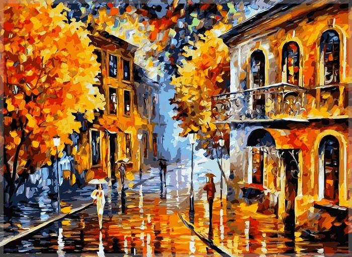 Картина за номерами Babylon Осінній дощ 40*50 см арт.VP074