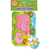 """Гр Мягкие пазлы на магните """"Свинья и поросенок"""" - VT 3205-60 (120) """"Vladi Toys"""""""