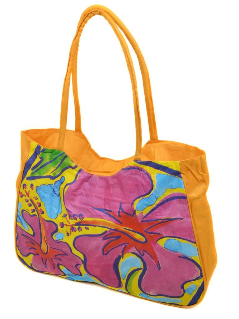 Жіноча яскрава пляжна містка текстильна сумка Case 08s05m1330 жовта