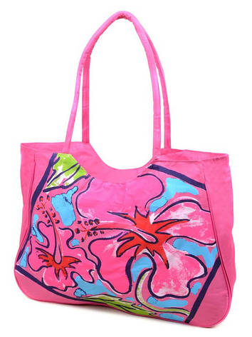 Сумка Жіноча Пляжна текстиль Podium 1353 light-рожева, фото 2