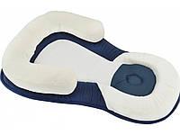 Подушка для новорожденных Baby Sleep Positioner Бело- Синий