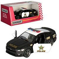 Машинка KT5386WP (24шт) металл,инер-я,полиция,12см,1:38,откр.двери,рез.колеса,в кор-ке,16-7-8см