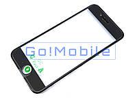 Стекло (для ремонта дисплея) iPhone 6 черное с рамкой и OCA-пленкой