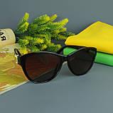 Коричневые женские солнцезащитные очки с поляризацией Louis Vuitton, фото 8
