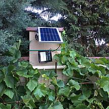 Светодиодный прожектор 25W на солнечной батарее с пультом. Фонарь солнечный 6500К, фото 3
