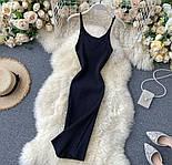 Яркое платье - майка с вырезом декольте из трикотажа лапши по фигуре 79031417, фото 3