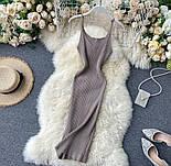 Яркое платье - майка с вырезом декольте из трикотажа лапши по фигуре 79031417, фото 4