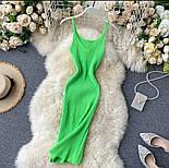 Яркое платье - майка с вырезом декольте из трикотажа лапши по фигуре 79031417, фото 6