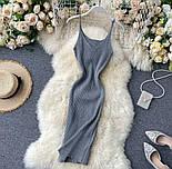 Яскраве плаття - майка з вирізом декольте з трикотажу локшини по фігурі 79031417, фото 7