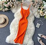 Яркое платье - майка с вырезом декольте из трикотажа лапши по фигуре 79031417, фото 8