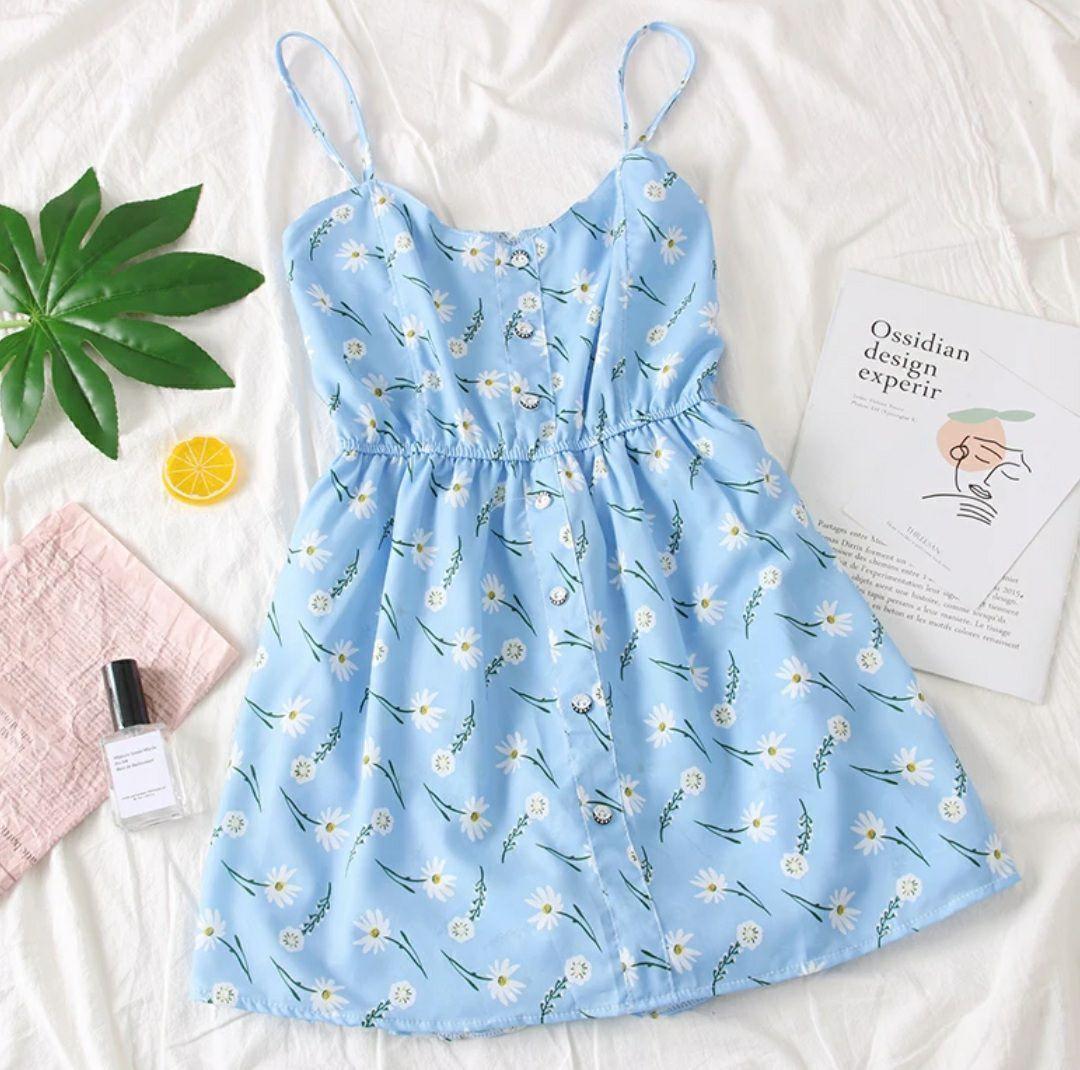 Короткое летнее платье - комбинезон на бретелях с резинкой на талии 79031419