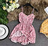 Короткое летнее платье - комбинезон на бретелях с резинкой на талии 79031419, фото 4