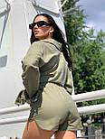Льняной женский костюм с шортами и рубашкой 5810940, фото 3