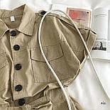 Коттоновый жіночий ромпер з рубашечным верхи і короткими шортами 7710950, фото 5