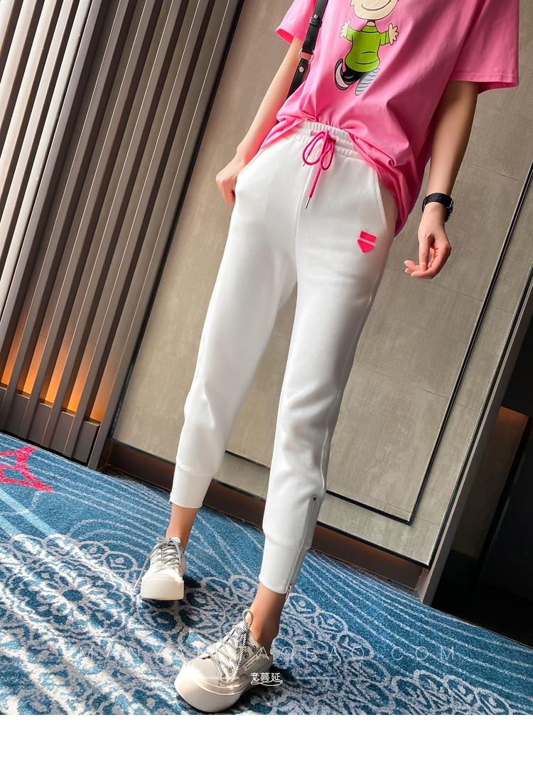 Спортивные трикотажный женские штаны на широких манжетах 7912491