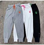 Спортивные трикотажный женские штаны на широких манжетах 7912491, фото 3