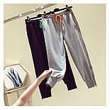 Спортивные трикотажный женские штаны на широких манжетах 7912491, фото 4
