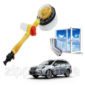 Щітка-насадка для миття та очищення Water Blast Cleaner Roto Brush, що обертається