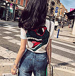 Хлопковая женская футболка с рисунком на спине 6817351, фото 2