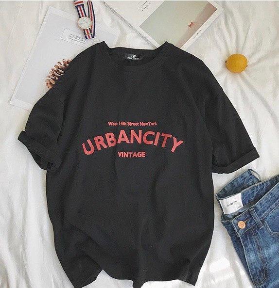 Летняя футболка оверсайз из хлопка с надписью 6817352