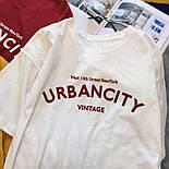 Летняя футболка оверсайз из хлопка с надписью 6817352, фото 2