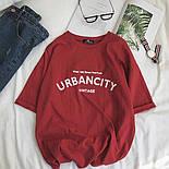 Летняя футболка оверсайз из хлопка с надписью 6817352, фото 3