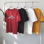 Летняя футболка оверсайз из хлопка с надписью 6817352, фото 5
