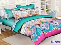 Постельное белье детское ТАГ 1.5-спальное. Ткань ранфорс. Расцветка для девочки