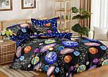 Комплект постельного белья полуторный Бязь GOLD 100% хлопок  Планеты, фото 3