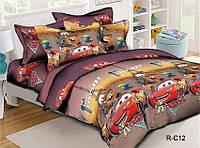 """Постельное белье детское ТАГ 1.5-спальное. Ткань ранфорс. Расцветка для мальчика """"Тачки"""""""