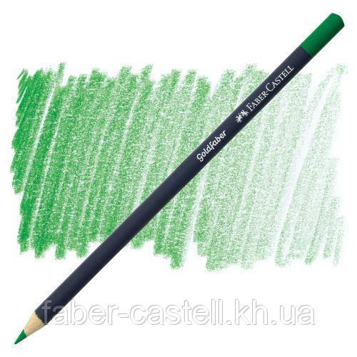 Цветной карандаш Faber-Castell Goldfaber цвет насыщенный зеленый №266 (Permanent Green), 114796