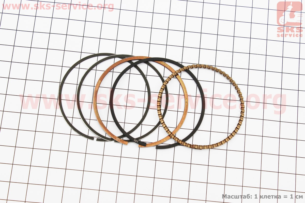 Кольца поршневые 110сс 52,4мм +1,00