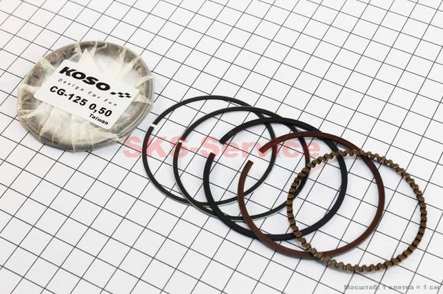 Кольца поршневые 125cc 56,5мм +0,50, фото 2