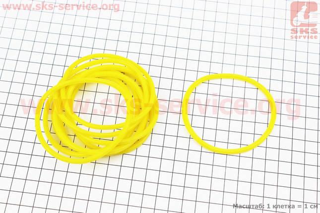 Кольцо (манжет) уплотнительное гильзы к-кт 10шт, желтые R190N, фото 2
