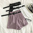Коттоновые женские шорты на высокой посадке 77sw15, фото 4