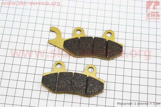Тормозные колодки дисковые с ухом передние к-т(2шт.) желтые, фото 2
