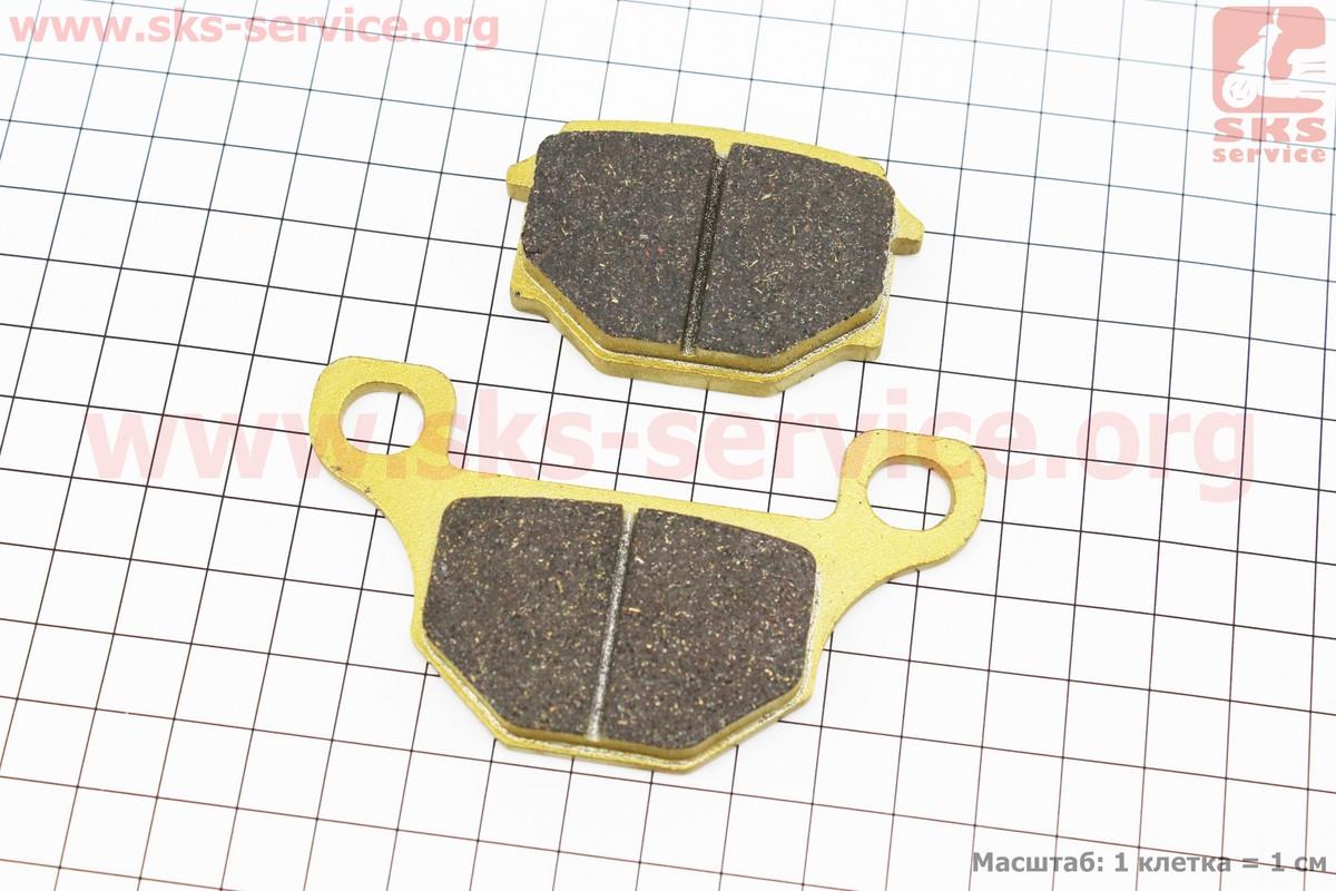 Тормозные колодки передние (диск) желтые