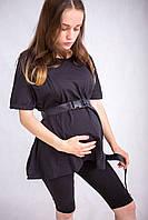 5501 Футболка для беременных оверсайз з сектором для кормления