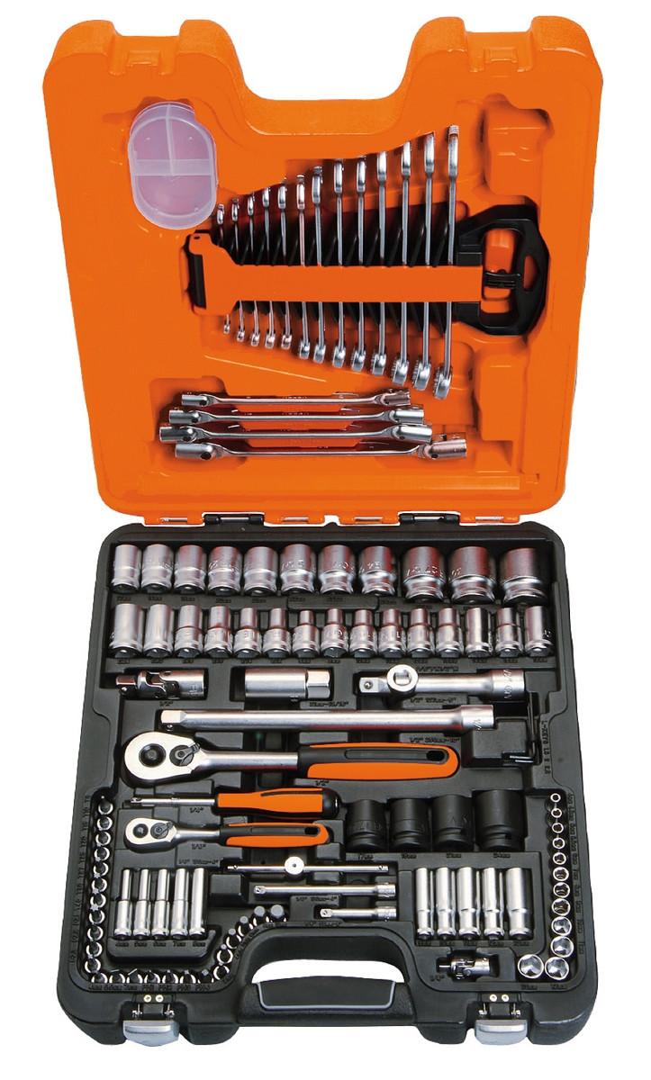Набор инструментов 1/4 и 1/2, 108 предметов, BAHCO S108